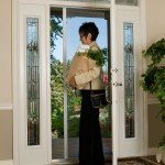 mirage retractable screen doors are easily operated with a handle