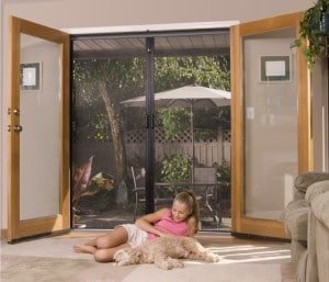 Retractable French Door Screens Mirage Screen Systems