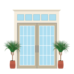 Retractable French Door graphic