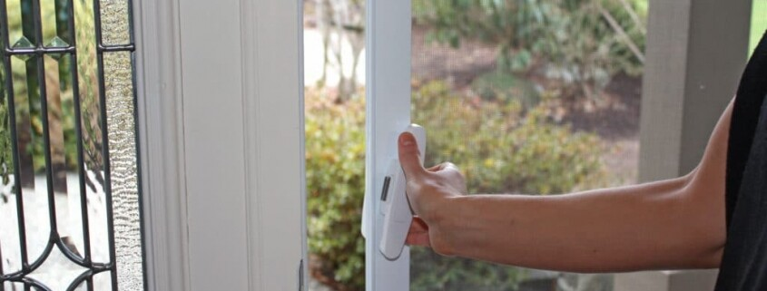 PivotPro handle attached to Mirage retractable screen door