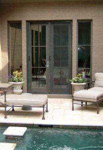 double entry patio door with two mirage retractable screens installed