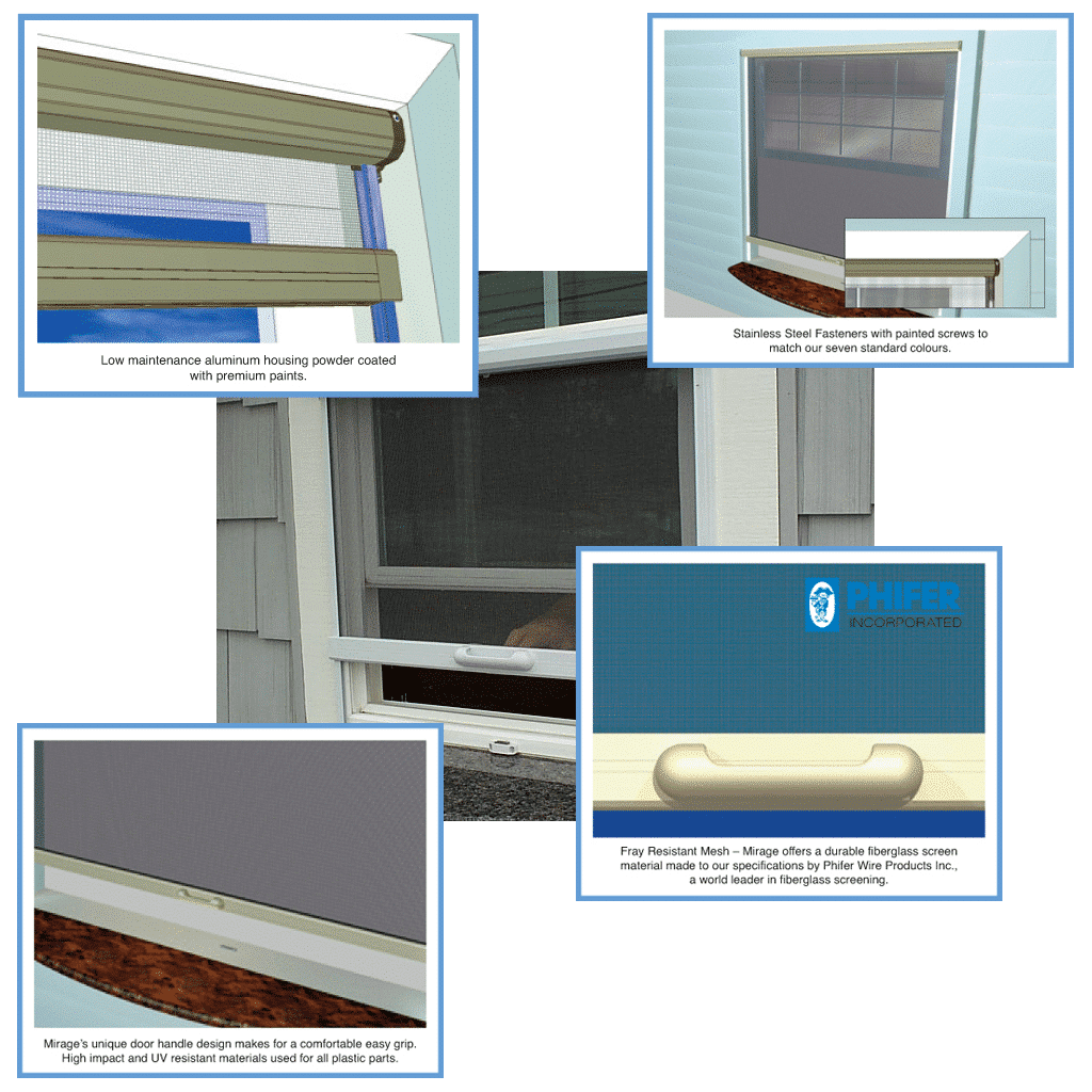 Retractable Window Screen details gallery