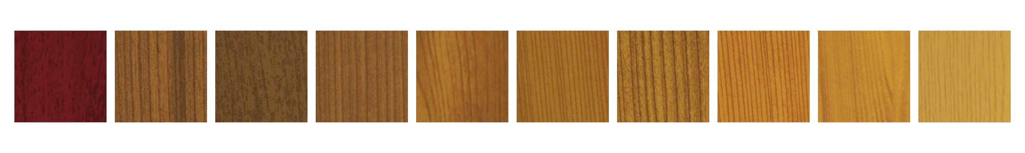 Mirage Retractable Screens wood-grain colors