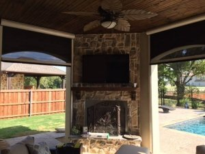 Mirage H4800 mounted on outdoor fireplace