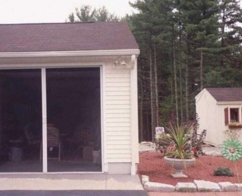 unique retractable screen installation on garage door