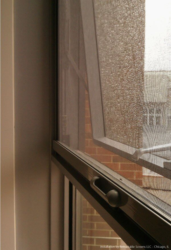Retractable Window Screen installed on home