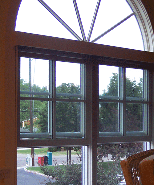 Retractable Window Screens installed on two windows
