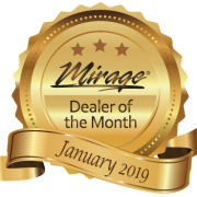 January 2019 Mirage Dealer of the Month Award